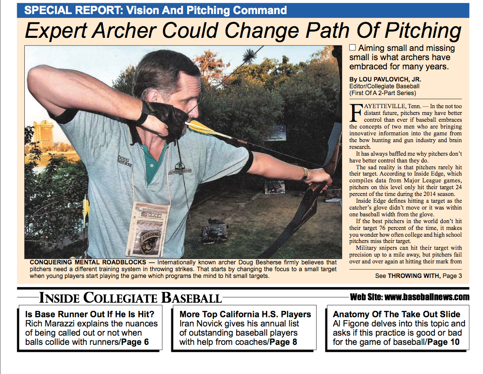 Expert Archer Could Change Path of Pitching